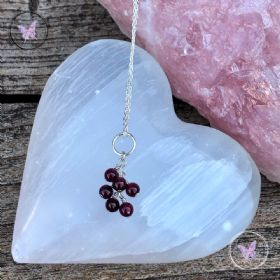 Garnet Cluster January Birthstone Necklace